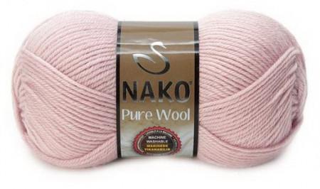 Poze Fir de tricotat sau crosetat - Fire tip mohair din lana 100% Nako PURE WOOL ROZ 318