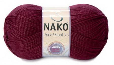 Poze Fir de tricotat sau crosetat - Fire tip mohair din lana 100% Nako PURE WOOL 3,5 GRENA 6592