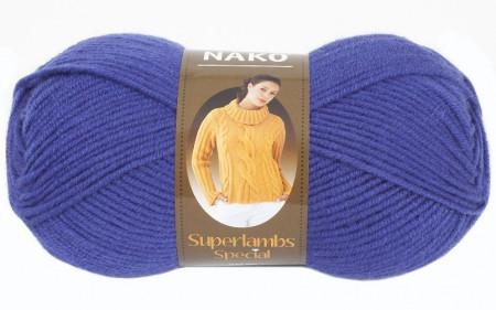Poze Fir de tricotat sau crosetat - Fire tip mohair din lana 50% si acril 50% Nako Superlambs Special albastru 10472