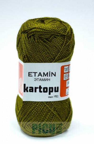 Poze Fir de tricotat,brodat sau crosetat - Fir KARTOPU ETAMIN KAKI - 395