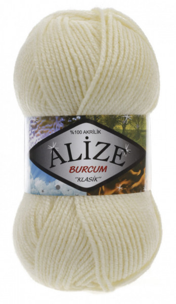 Poze Fir de tricotat sau crosetat - Fir ACRILIC ALIZE BURCUM KLASIK CREAM 01