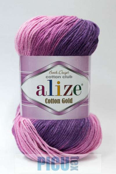 Poze Fir de tricotat sau crosetat - Fir ALIZE COTTON GOLD BATIK - DEGRADE 3302
