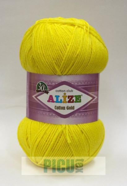 Poze Fir de tricotat sau crosetat - Fir ALIZE COTTON GOLD GALBEN 110