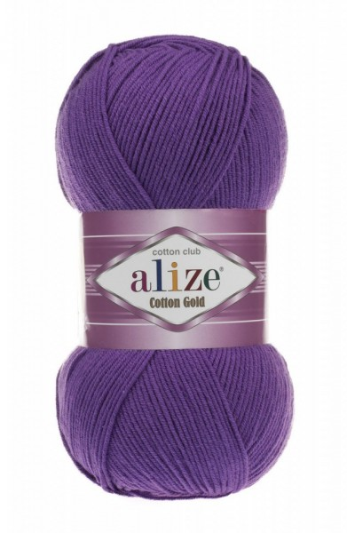 Poze Fir de tricotat sau crosetat - Fir ALIZE COTTON GOLD MOV 44