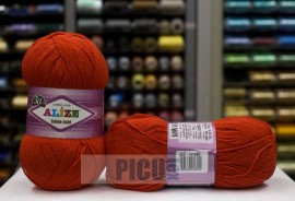 Poze Fir de tricotat sau crosetat - Fir ALIZE COTTON GOLD ROSU 243