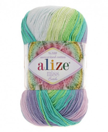 Poze Fir de tricotat sau crosetat - Fir BUMBAC 100% ALIZE MISS BATIK DEGRADE 3708