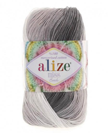 Poze Fir de tricotat sau crosetat - Fir BUMBAC 100% ALIZE MISS BATIK DEGRADE 3722