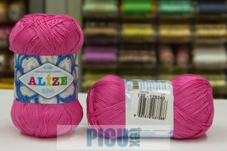 Poze Fir de tricotat sau crosetat - Fir BUMBAC 100% ALIZE MISS ROZ 130