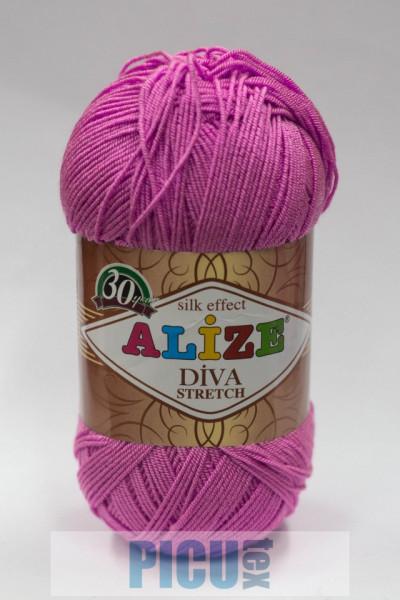 Poze Fir de tricotat sau crosetat - Fir microfibra ALIZE DIVA STRETCH ROZ 378