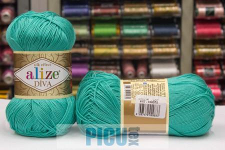 Poze Fir de tricotat sau crosetat - Fir microfibra ALIZE DIVA TURQUAZ 376
