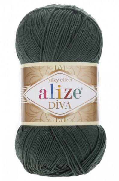 Poze Fir de tricotat sau crosetat - Fir microfibra ALIZE DIVA VERDE 131