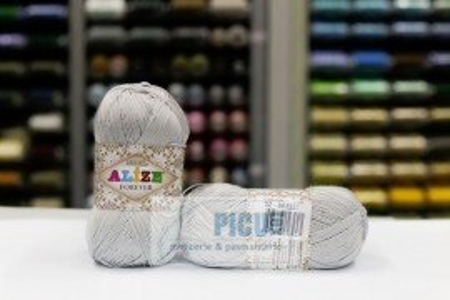 Poze Fir de tricotat sau crosetat - Fir microfibra ALIZE FOREVER GRI 52