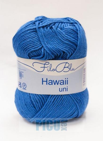 Poze Fir de tricotat sau crosetat - Fire amestec Bumbac 100% GRUNDL HAWAII UNI - ALBASTRU - 08