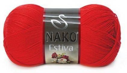 Poze Fir de tricotat sau crosetat - Fire amestec Bumbac + Bambus NAKO ESTIVA ROSU 6951