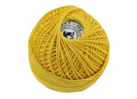 Poze Fir de tricotat sau crosetat - Fire Bumbac 100% ANGELICA ROMANOFIR BOBINA GALBEN 1310