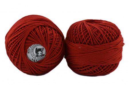 Poze Fir de tricotat sau crosetat - Fire Bumbac 100% ANGELICA ROMANOFIR BOBINA ROSU 1333
