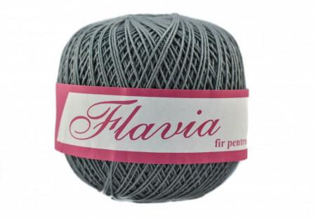 Poze Fir de tricotat sau crosetat - Fire Bumbac 100% FLAVIA ROMANOFIR BOBINA GRI 1284