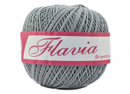 Poze Fir de tricotat sau crosetat - Fire Bumbac 100% FLAVIA ROMANOFIR BOBINA GRI 1281