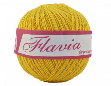 Poze Fir de tricotat sau crosetat - Fire Bumbac 100% FLAVIA ROMANOFIR BOBINA GALBEN 1310