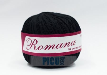 Poze Fir de tricotat sau crosetat - Fire Bumbac 100% ROMANA - ROMANOFIR BOBINA NEGRU 1201