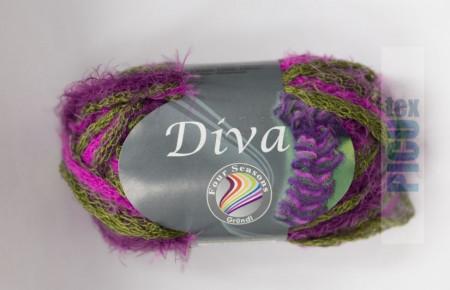 Poze Fir de tricotat sau crosetat - Fire pretricotat esarfa GRUNDL DIVA DEGRADE 10
