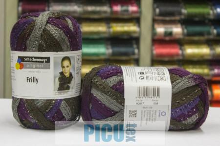 Poze Fir de tricotat sau crosetat - Fire pretricotate esarfa FRILLY degrade 00087