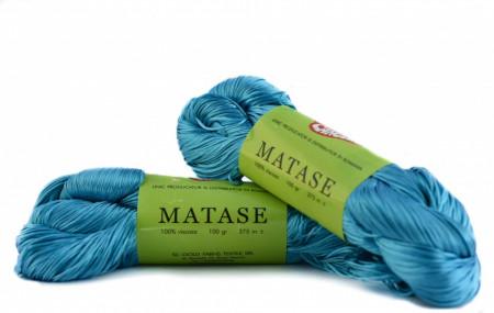 Poze Fir de tricotat sau crosetat - Fire tip matase din vascoza Canguro - ALBASTRU -337 -