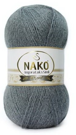 Poze Fir de tricotat sau crosetat - Fire tip mohair acril NAKO ANGORA LUKS SIMLI GRI COD 3468