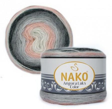 Poze Fir de tricotat sau crosetat - Fire tip mohair acril NAKO ANGORA LUKS COLOR 81916