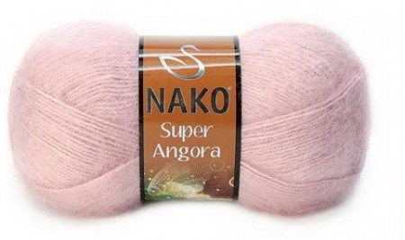 Poze Fir de tricotat sau crosetat - Fire tip mohair acril NAKO SUPER ANGORA ROZ 10275