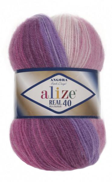 Poze Fir de tricotat sau crosetat - Fire tip mohair din acril Alize Angora Real 40 Batik degrade 3950