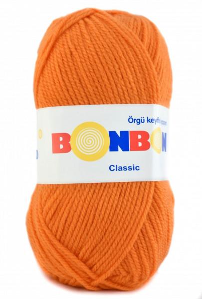 Poze Fir de tricotat sau crosetat - Fire tip mohair din acril BONBON CLASIC PORTOCALIU 98212