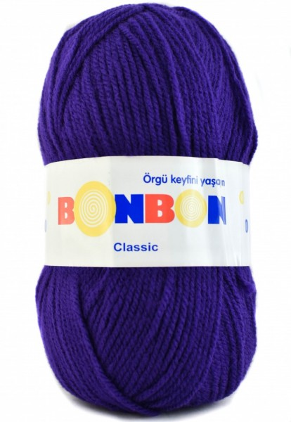 Poze Fir de tricotat sau crosetat - Fire tip mohair din acril BONBON CLASIC MOV 98404