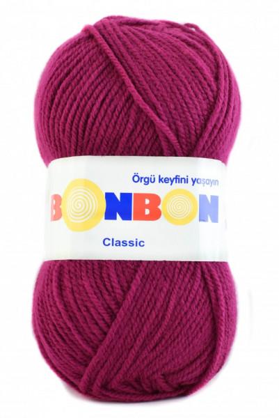 Poze Fir de tricotat sau crosetat - Fire tip mohair din acril BONBON CLASIC FUCSIA 98262