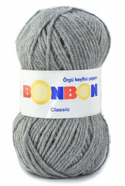 Poze Fir de tricotat sau crosetat - Fire tip mohair din acril BONBON CLASIC GRI 98233