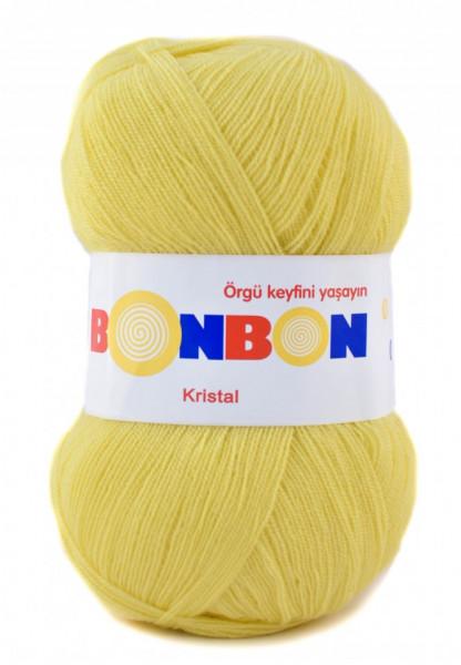 Poze Fir de tricotat sau crosetat - Fire tip mohair din acril BONBON KRISTAL Galben 98210