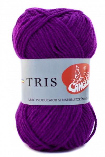 Poze Fir de tricotat sau crosetat - Fire tip mohair din acril CANGURO - TRIS MOV 332