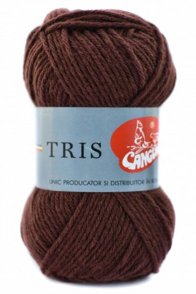 Poze Fir de tricotat sau crosetat - Fire tip mohair din acril CANGURO - TRIS MARO 329