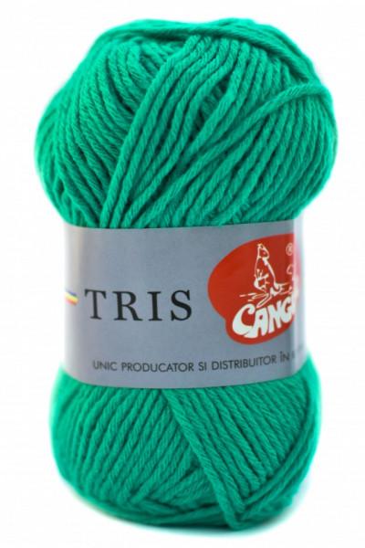 Poze Fir de tricotat sau crosetat - Fire tip mohair din acril CANGURO - TRIS VERDE 336