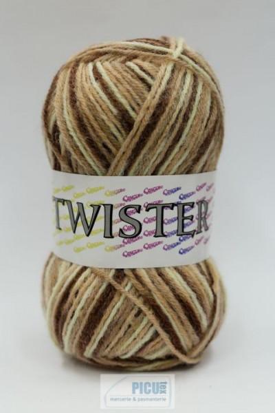 Poze Fir de tricotat sau crosetat - Fire tip mohair din acril CANGURO - TWISTER IMPRIMAT DEGRADE 378