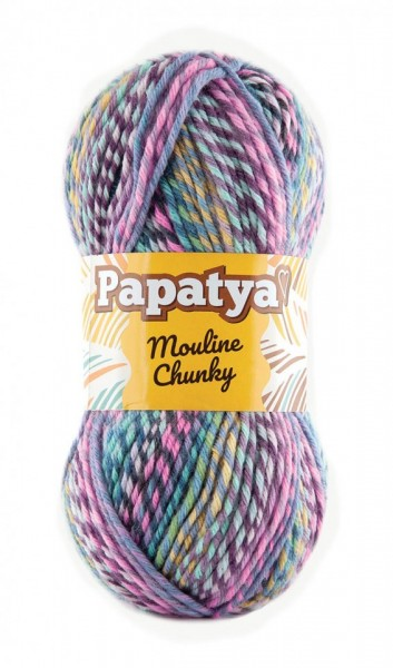 Poze Fir de tricotat sau crosetat - Fire tip mohair din acril Kamgarn Papatya Mouline Chunky Degrade 5374