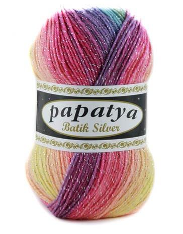 Poze Fir de tricotat sau crosetat - Fire tip mohair din acril Kamgarn Papatya Silver Batik degrade 11