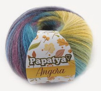 Poze Fir de tricotat sau crosetat - Fire tip mohair din acril Kamgarn Papatya Angora degrade 62