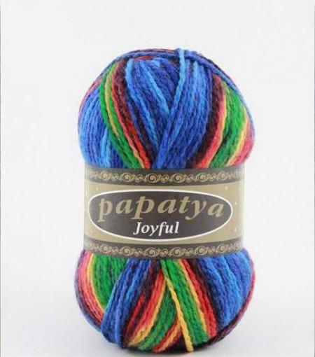 Poze Fir de tricotat sau crosetat - Fire tip mohair din acril Kamgarn Papatya Joyful degrade 11