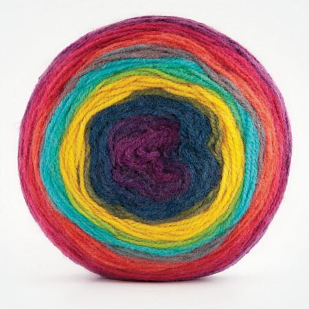 Poze Fir de tricotat sau crosetat - Fire tip mohair din acril Kamgarn Papatya CAKE degrade 213