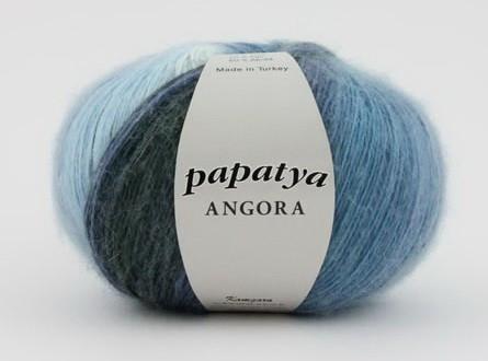 Poze Fir de tricotat sau crosetat - Fire tip mohair din acril Kamgarn Papatya Angora degrade 19