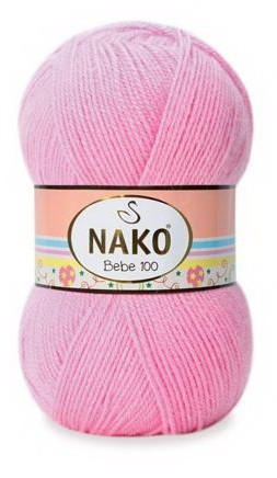 Poze Fir de tricotat sau crosetat - Fire tip mohair din acril NAKO BABY - BEBE 100 roz 229