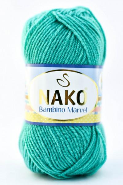 Poze Fir de tricotat sau crosetat - Fire tip mohair din acril Nako Baby MARVEL VERDE 10460