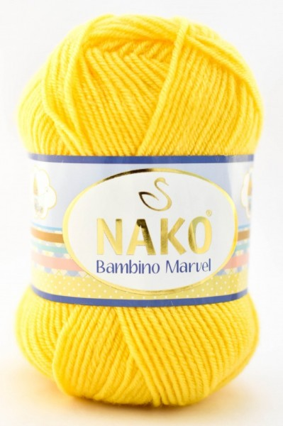 Poze Fir de tricotat sau crosetat - Fire tip mohair din acril Nako Baby MARVEL GALBEN 6410