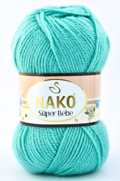 Poze Fir de tricotat sau crosetat - Fire tip mohair din acril Nako SUPER BEBE TURQUAZ 3377